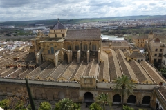 A View of the roof of the La Mezquita - Cathedral of Córdoba