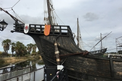The Santa Maria under repair at Palos