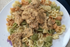 David's Chicken in cream pasta.