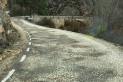 Not all the roads in Spain are motorways leaving the mountains of the Alto Tajo.