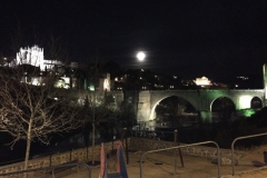 Toledo, the moon rises over the city