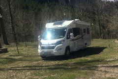 Parking up at Camping La Serradora, Peralejos de las Truchas