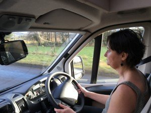 The lady drives NiKi home.