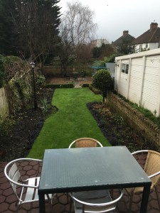 Garden all tidy for the new tenants.