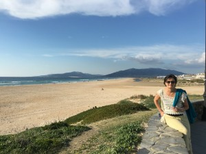 View back to our campsite from Tarifa.