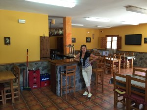 Bar and dining room at Camping La Serradora, Peralejos de las Truchas