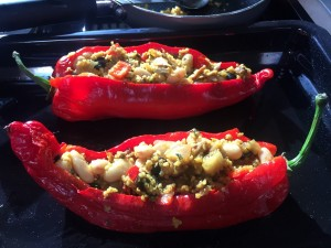 close up of Peppers stuffed with love!