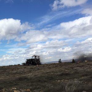 Tractor gone but livestock safe.