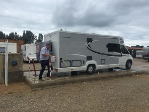 """029 Area Camping Car La Marina, El Saler A paid Aire €11 no electric and not worth the money. GPS 39°23'12.1""""N 0°19'58.0""""W"""
