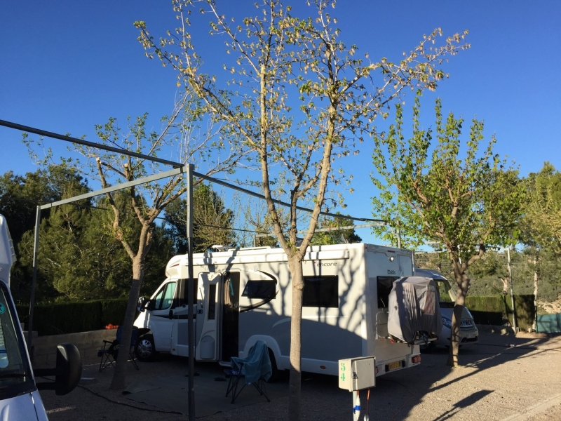 """031 Camping Altomira, Navajas. A Stunning Campsite great value with our ASCI discount card. On the longest Via Verde in Spain. Really recommend this site. GPS 39°52'25.2""""N 0°30'35.4""""W"""