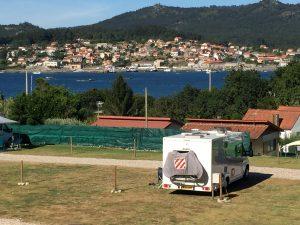 073 Camping Car Area Playa Arneles, O Hio, Spain, Motorhome Parking, Aire