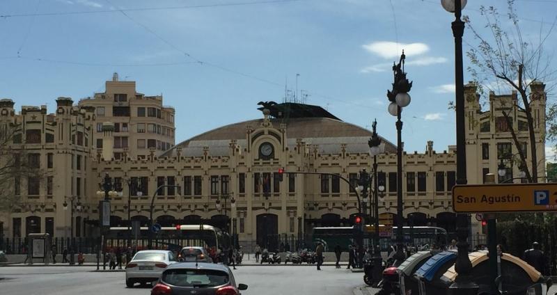 Valencia The train station