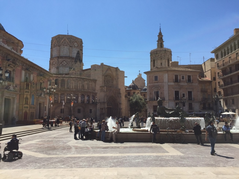 Valencia Cathedral and plaza