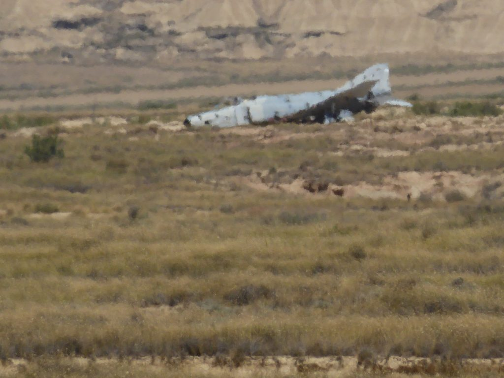 One of the planes that stayed after the bomb run!